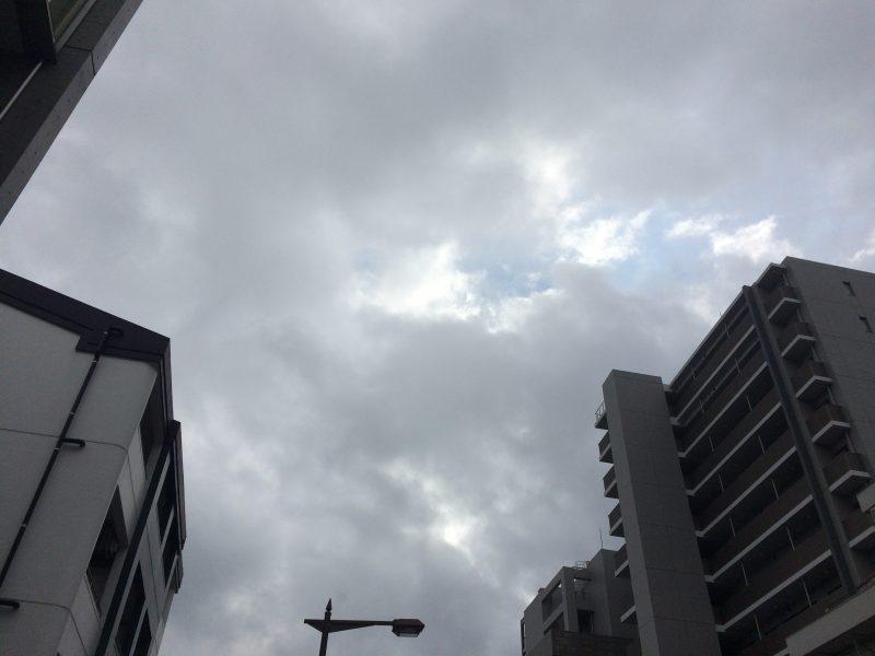 台風接近で東京の片田舎にも影響が